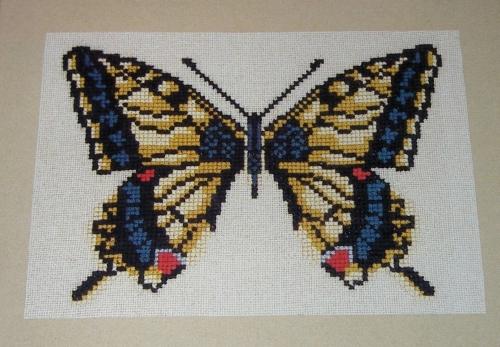 Swallowtail Butterfly ~ Cross Sttich Chart