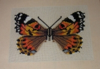 Painted Lady Butterfly ~ Cross Stitch Chart