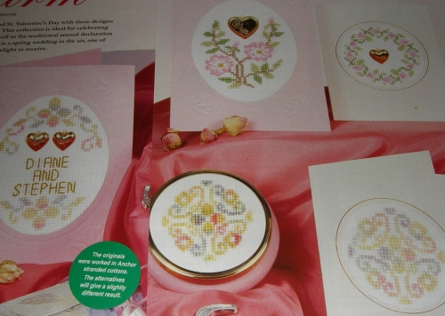 Wedding, Anniversaries, Valentines Cards ~ Five Cross Stitch Charts