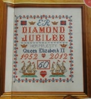 Queen's Diamond Jubilee Sampler ~ Cross Stitch Chart