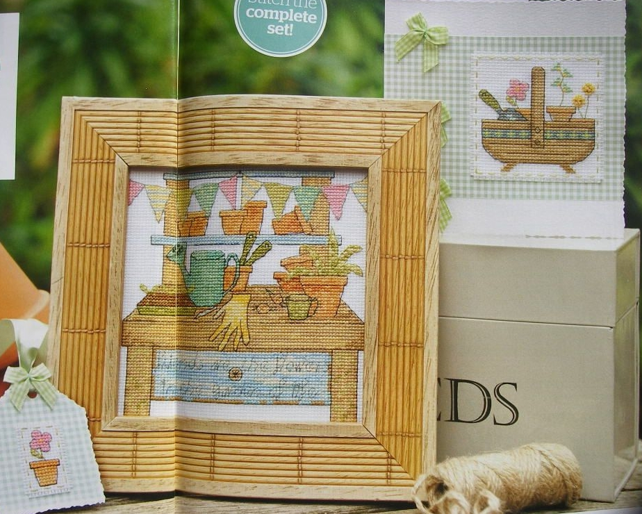 Gardener's Potting Bench & Trug ~ Two Cross Stitch Charts