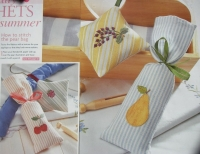 Mini Embroidered & Appliqued Fruit Bags & Sachets ~ Four Embroidery & Applique Patterns