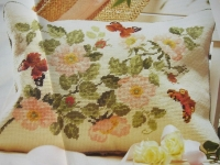 Wild Briar Rose & Butterfly Cushion ~ Needlepoint Pattern