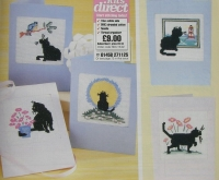 Black Cat Greeting Cards ~ Six Cross Stitch Charts