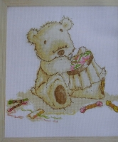 Lickle Ted with Embroidery Hoop ~ Cross Stitch Chart