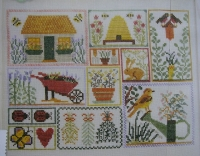 Spring Garden Sampler ~ Cross Stitch Chart