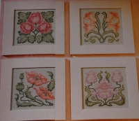 Art Nouveau Florals ~ Four Cross Stitch Charts