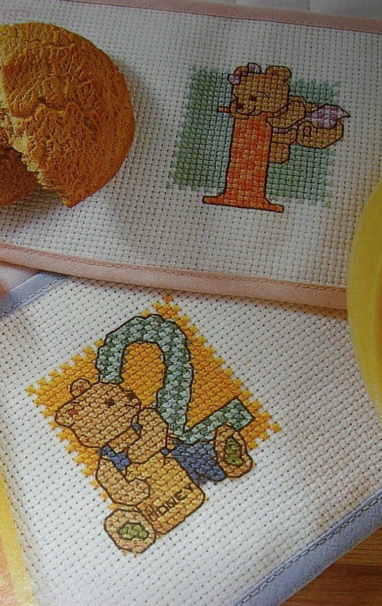 Boy & Girl Teddy 1, 2, 3 ~ 20 Numbered Cross Stitch Charts