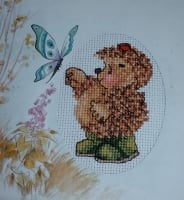 Country Companions: Ed Hedgehog Card ~ Mini Cross Stitch Kit