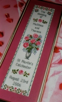 Roses / Golden / Silver Wedding Day / Anniversary Sampler ~ Cross Stitch Chart