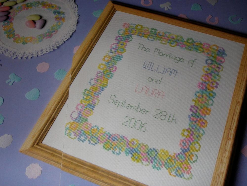 Confetti Wedding Sampler & Cards ~ Five Cross Stitch Charts