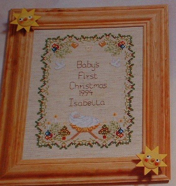 Baby's First Christmas Sampler ~ Cross Stitch Chart