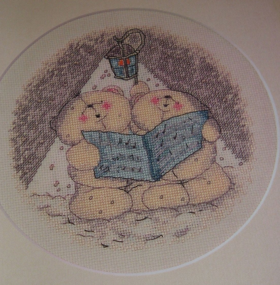 Forever Friends Bears ~ Carol Singing: Cross Stitch Chart