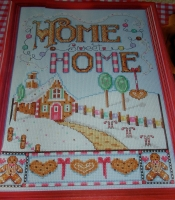 Home Sweet Home Gingerbread Cottage ~ Cross Stitch Chart
