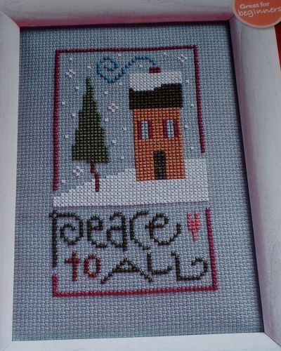 Lizzie*Kate ~ Peace To All ~ Christmas Cross Stitch Chart