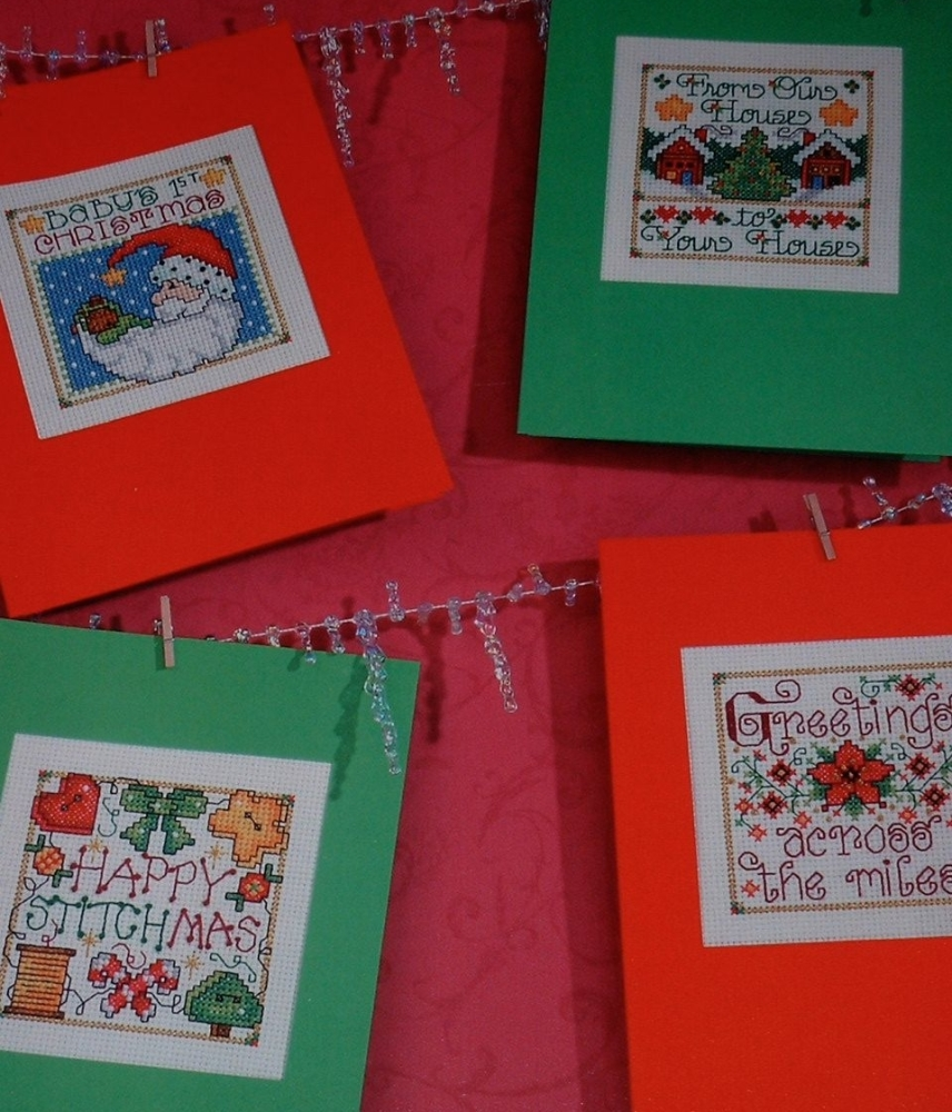 Six Special Message Christmas Cards ~ Cross stitch Charts