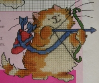 Sagittarius Cat Card ~ Cross Stitch Chart