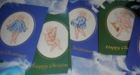 SIX Angelic Cherub Christmas Cards ~ Cross Stitch Charts