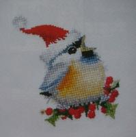 Heritage Stitchcraft: Chirping Christmas Chickadee ~ Cross Stitch Chart