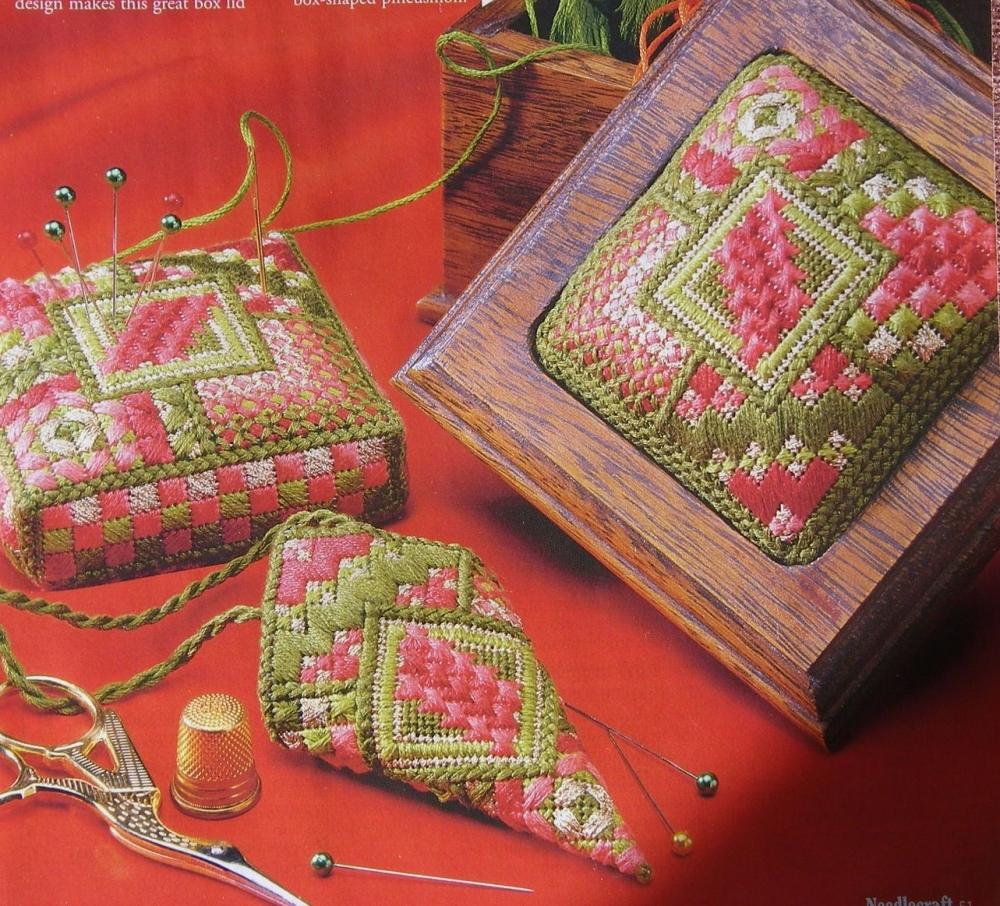 Canvaswork Stitch Sampler Needlework Items ~ Needlepoint Pattern