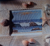 Rolling Waves Against the Shore ~ Cross Stitch Chart