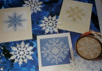 Winter Snowflake Cards ~ Four Cross Stitch Charts