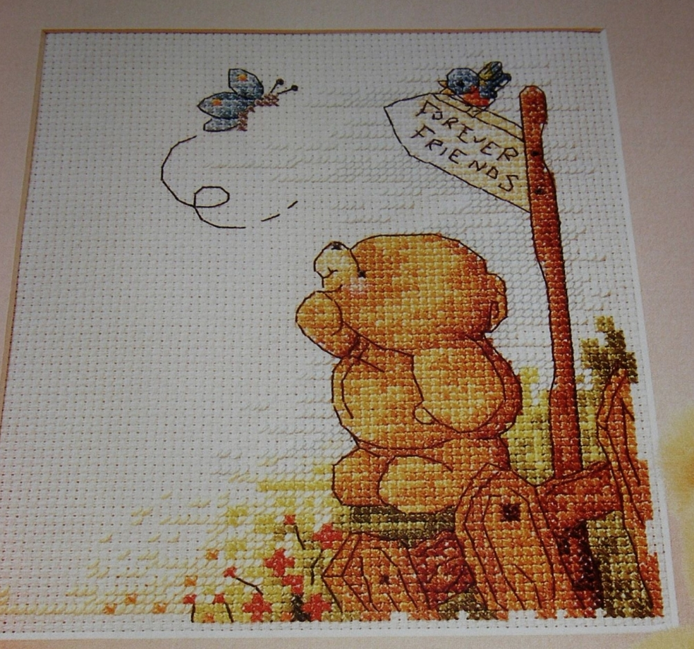 Forever Friends Bear: Which Way ~ Cross Stitch Chart