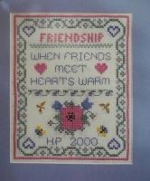 Friendship Warms the Heart Sampler ~ Cross Stitch Chart