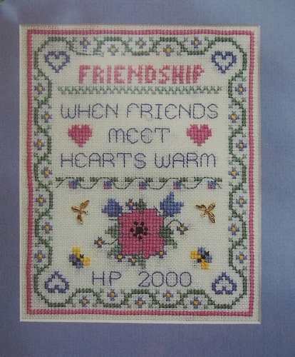Friendship Warms the Heart Sampler ~ Cross Stitch Chart