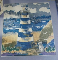 Lighthouse on the Coastline ~ Cross Stitch Chart