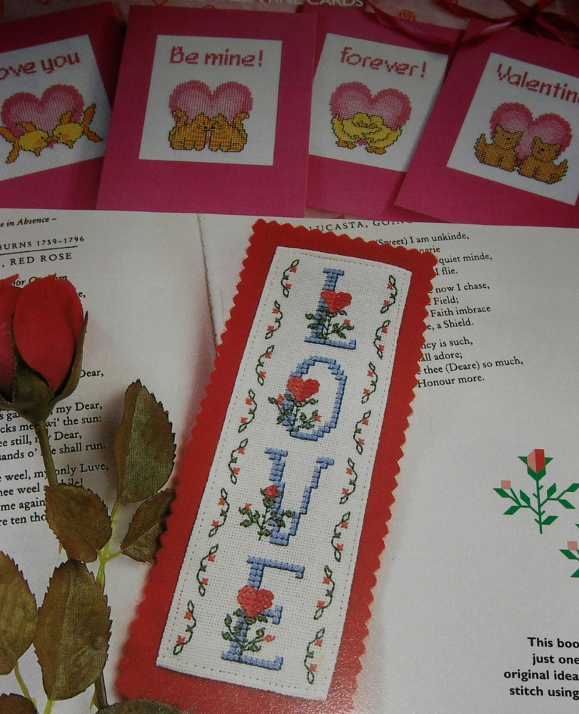 Valentine ABC Alphabet ~ 26 Cross Stitch Charts