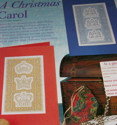 Two Assisi Style Christmas Cards featuring Carols: Cross Stitch Charts