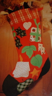 Christmas Stocking ~ Machine Applique Pattern