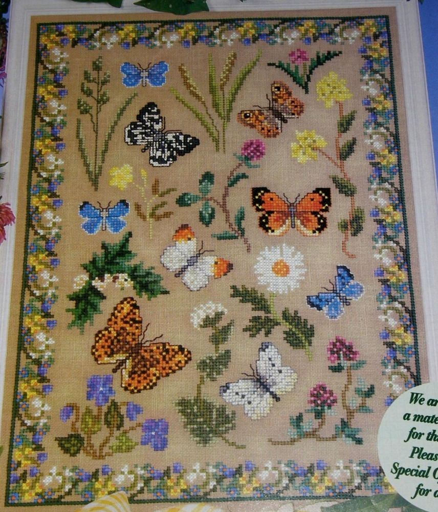 Wildflowers & Butterflies Sampler ~ Cross Stitch Chart