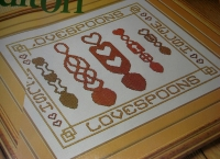 Welsh Lovespoons ~ Cross Stitch Chart
