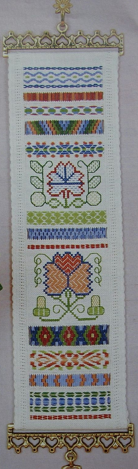 Geometric Darning & Needleweaving Sampler Bellpull: Embroidery Pattern