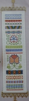 Geometric Darning & Needleweaving Sampler Bellpull: Embroidery Pattern