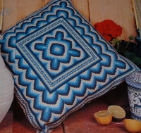 Bargello Canvaswork Cushion ~ Canvaswork Pattern