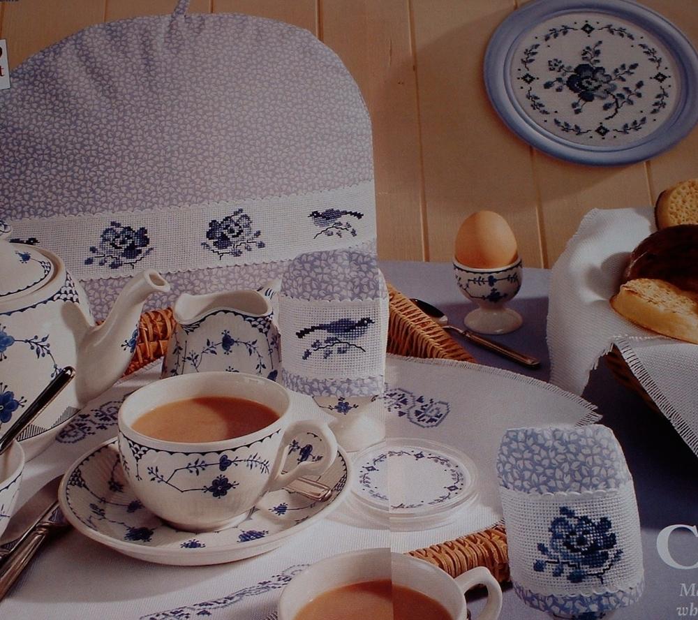 Blue & White Kitchen Accessories - Four Cross Stitch Charts