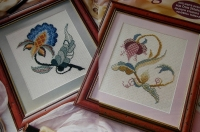 Jacobean Flowers ~ Two Cross Stitch Charts