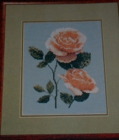 Alpine Sunset Rose ~ Cross Stitch Chart