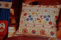 Exotic Tropical Flowers Cushion ~ Cross Stitch Chart