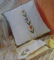 Variegated Tulips Cushion/Cards ~ Cross Stitch Charts