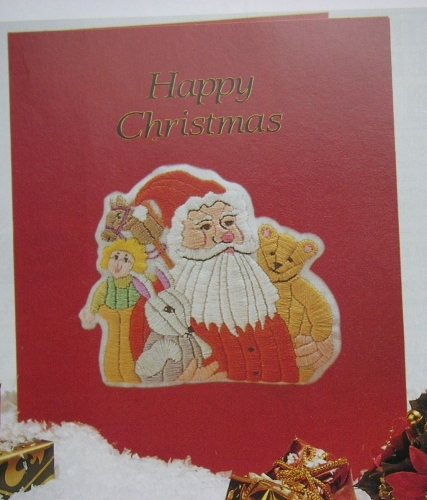 Santa & Toys Christmas Card ~ Embroidery Pattern