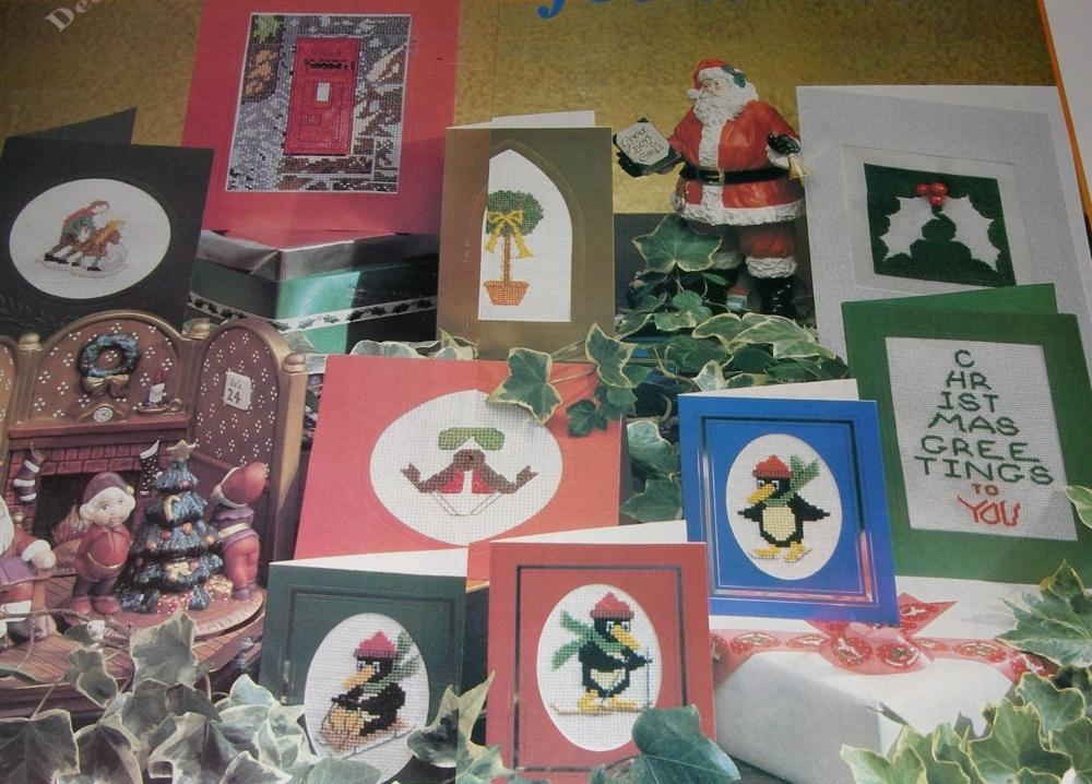 Nine Festive Christmas Cards ~ Cross Stitch Charts