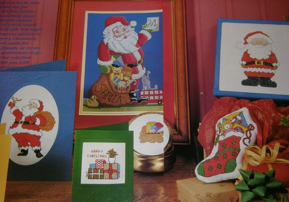 Christmas Cards & Pictures ~ Nine Cross Stitch Charts
