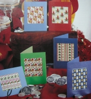 Six repeating Motif Christmas Cards ~ Cross Stitch Charts