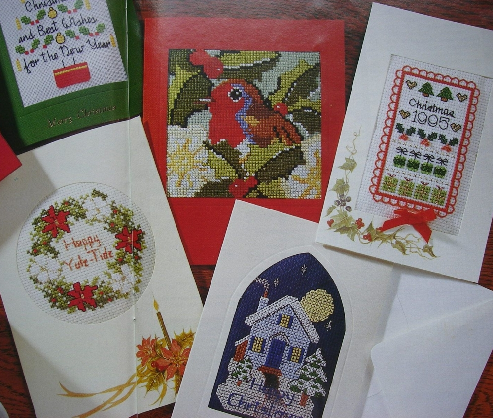 Six Christmas Card Designs ~ Cross Stitch Charts