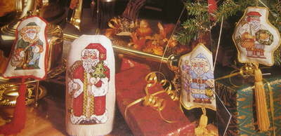 Santa Claus/ Father Christmas Decorations/Cards ~ Cross Stitch Charts