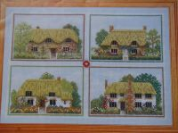 Thatched Cottages from the English West Country ~  Four Cross Stitch Charts